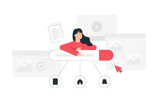 Иллюстрация концепции поисковой системы