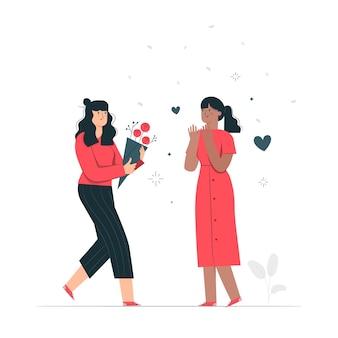Иллюстрация концепции признательность