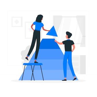 Иллюстрация концепции сотрудничества