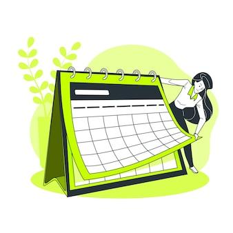 Календарь концепции иллюстрации