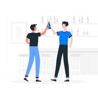 ビールのお祝いの概念図