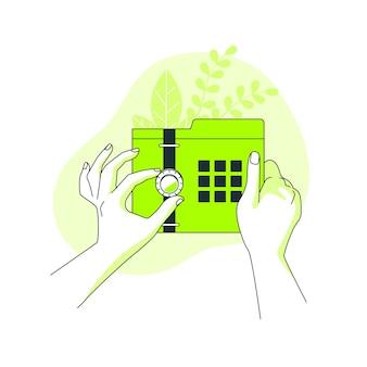 Иллюстрация концепции защищенных данных
