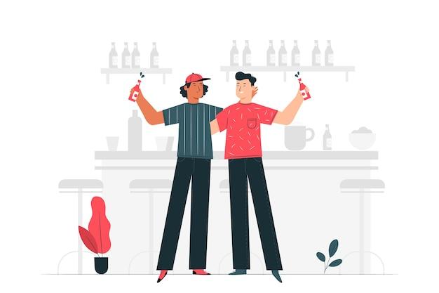 Иллюстрация концепции празднования пива