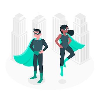 Иллюстрация концепции супергероя