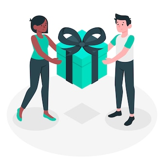 Иллюстрация концепции подарка