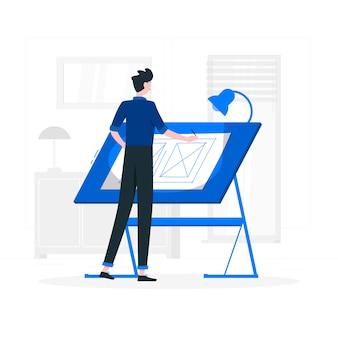 Дизайнерская концепция иллюстрации