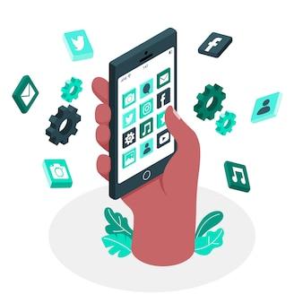 モバイルアプリの概念図