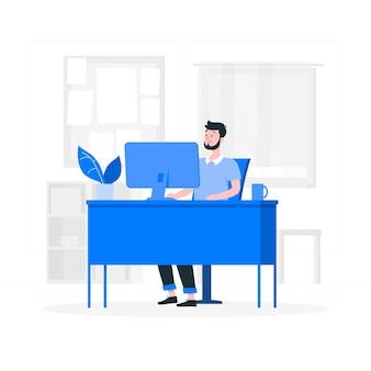 В иллюстрации концепции офиса