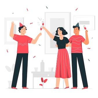 Иллюстрация концепции празднования