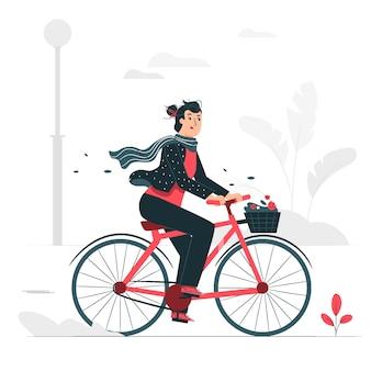 Поездка на велосипеде концепции иллюстрации