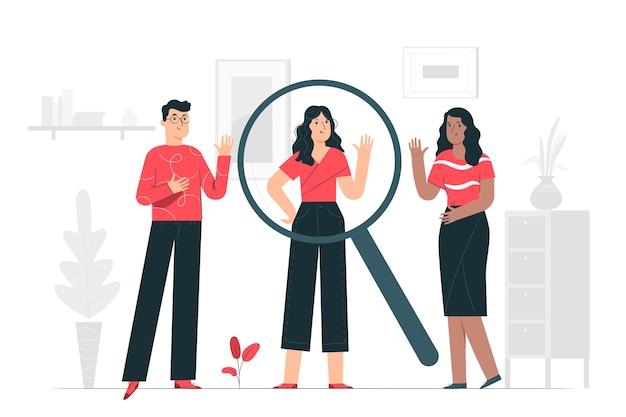 Иллюстрация концепции поиска людей