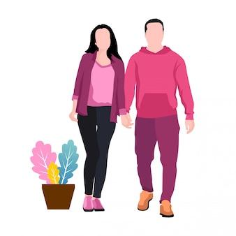 ロマンチックな男性と女性