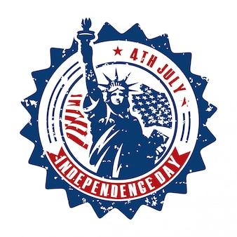 アメリカ独立記念日のロゴのテンプレート