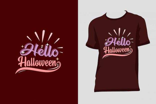 Привет хэллоуин дизайн футболки