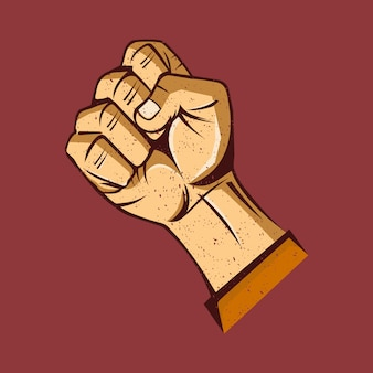 手で民主主義記号