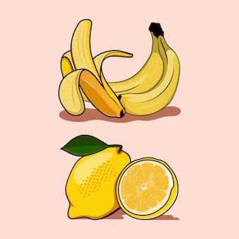 バナナとレモン