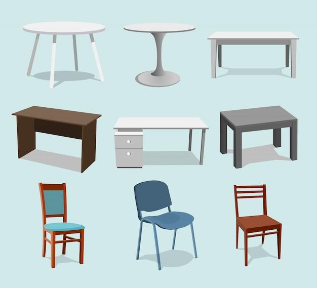 テーブルのコレクションセット