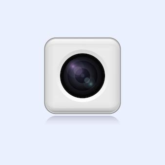 現実的な白いウェブカメラ