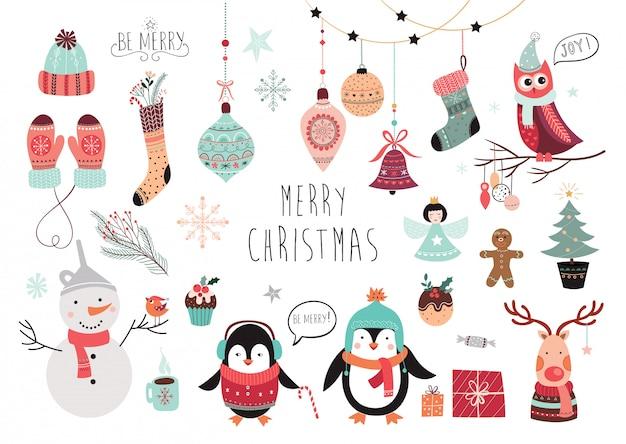 クリスマスの要素のコレクション