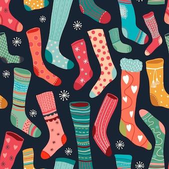 カラフルな靴下とのシームレスなパターン