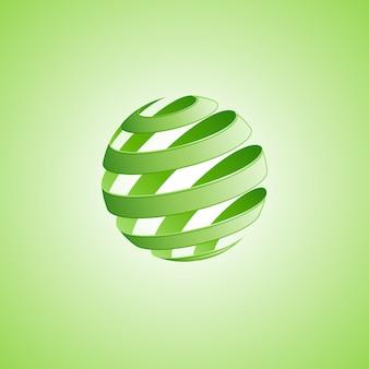 スパイラル球の抽象的な線。