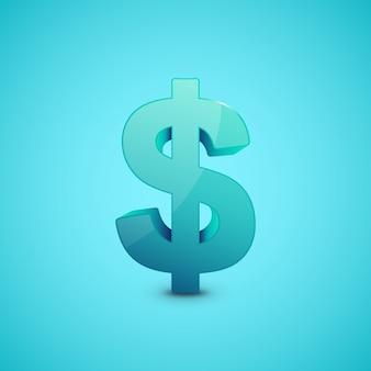 Иллюстрация знак доллара.