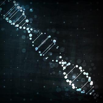 Футуристическая днк, абстрактная молекула клеточная иллюстрация, концепт-арт