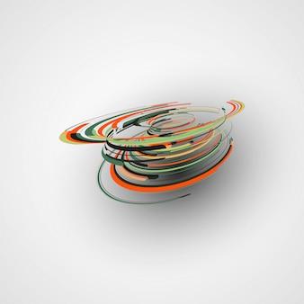 Футуристическая абстрактная форма
