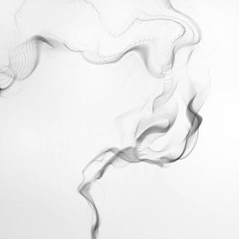 タバコの煙の波