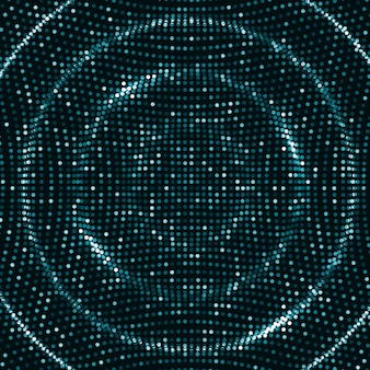 Цифровые волны фон