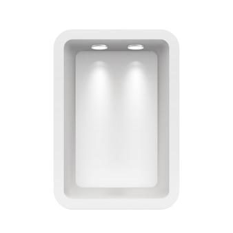 Бутик в верхней стенке с источниками света
