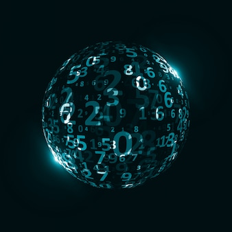Цифровой кодовый фон