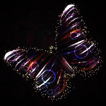 光沢のある蝶の抽象的なベクトル