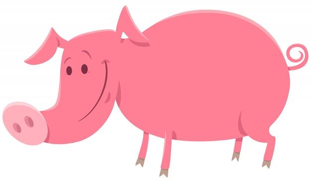 豚や子豚の農場の動物の漫画イラスト