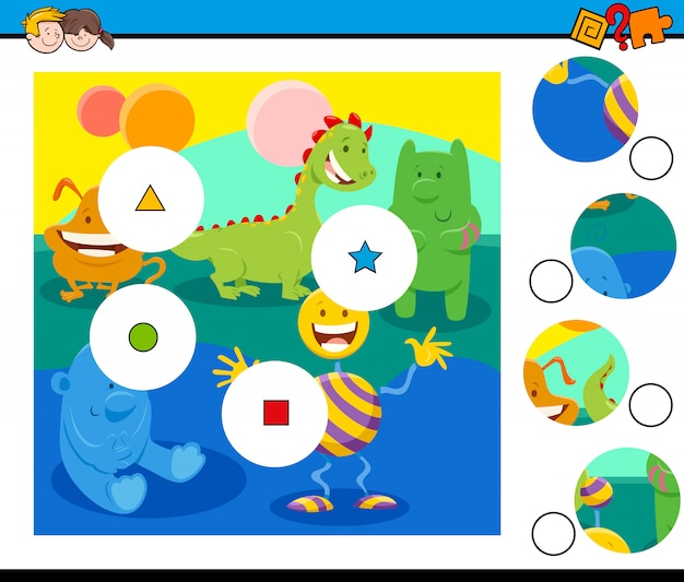 Матч головоломки с фантастическими персонажами