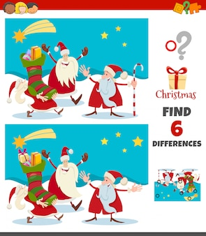 Отличия игры с рождественскими персонажами санта-клауса