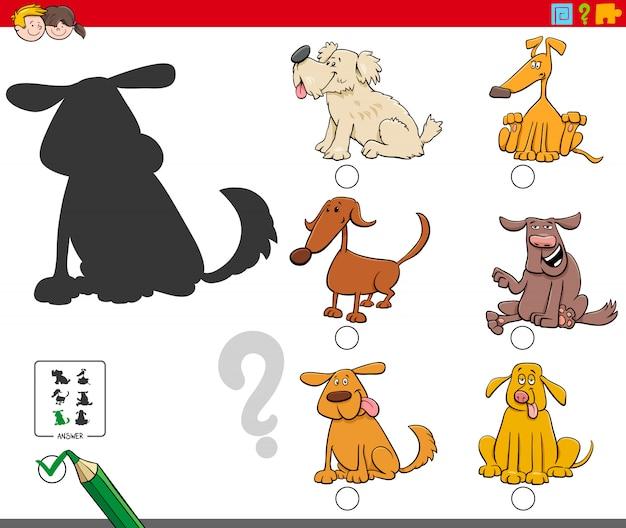 漫画の犬のキャラクターと影ゲーム