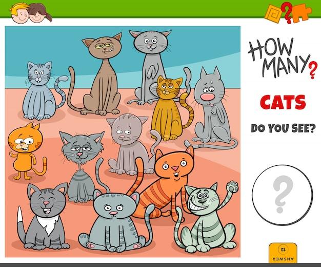 子供向けの猫の教育ゲームの数