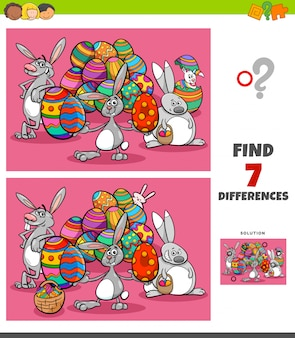 Отличия заданий с мультяшными пасхальными персонажами