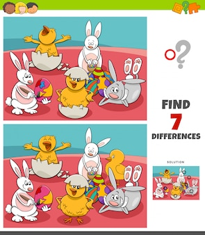 Отличия игры с комическими пасхальными персонажами
