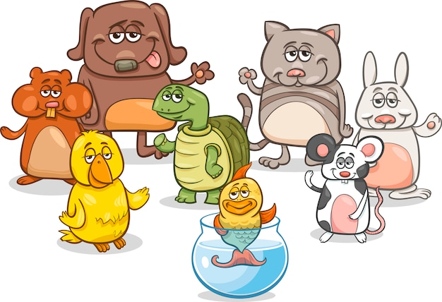 漫画ペットキャラクターグループ