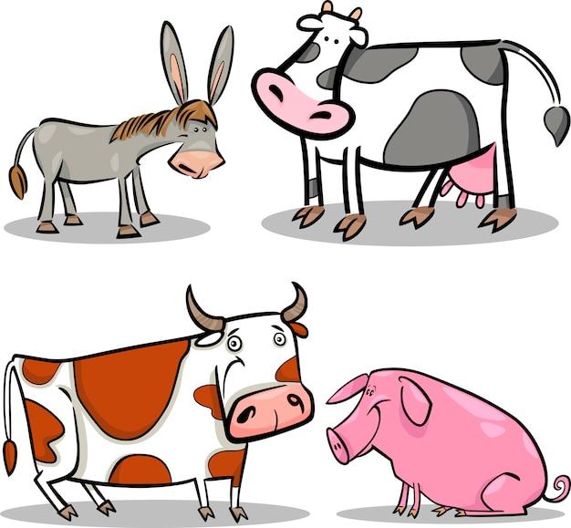 Симпатичные животные мультфильм животных