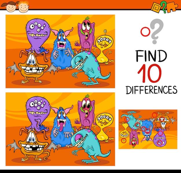 違いを見つけるゲーム漫画
