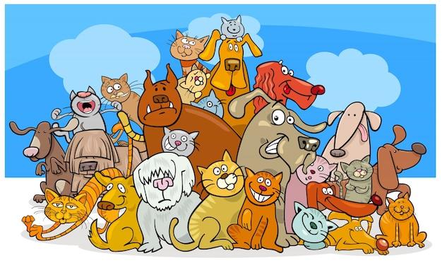 漫画の犬と猫のキャラクター