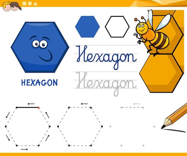 六角形漫画基本的な幾何学的な図