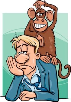 あなたの背中に猿