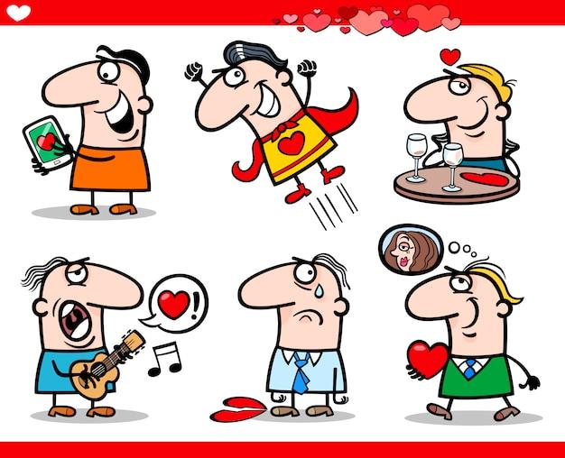 バレンタインデーテーマ漫画のイラスト
