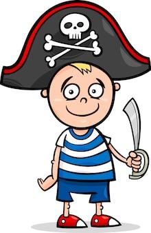 Мальчик в пиратском костюме