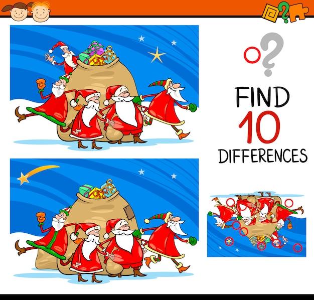 Задача рождественских различий для детей