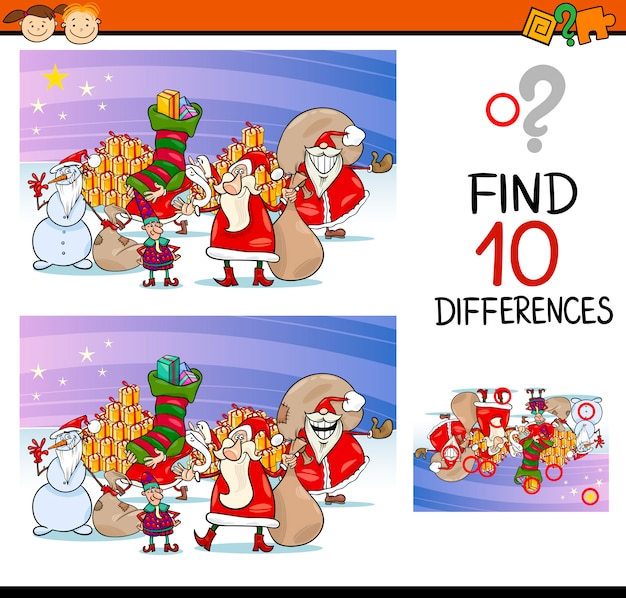 Различия для детей дошкольного возраста